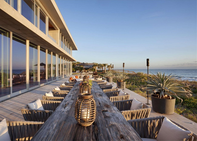 Beach house patio. Christie's Real Estate.