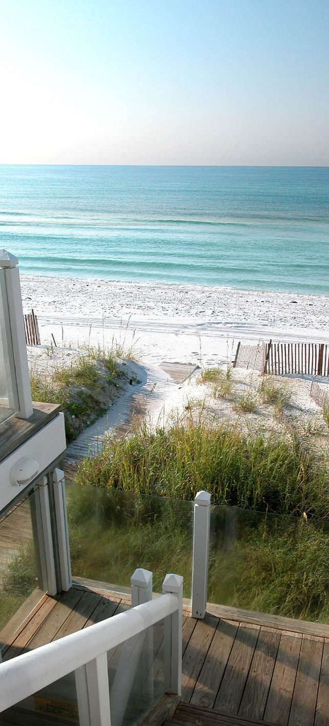Beach. Beach house. Ocean front home patio. #BeachHouse #Patio #Beach #Ocean #SandBeach