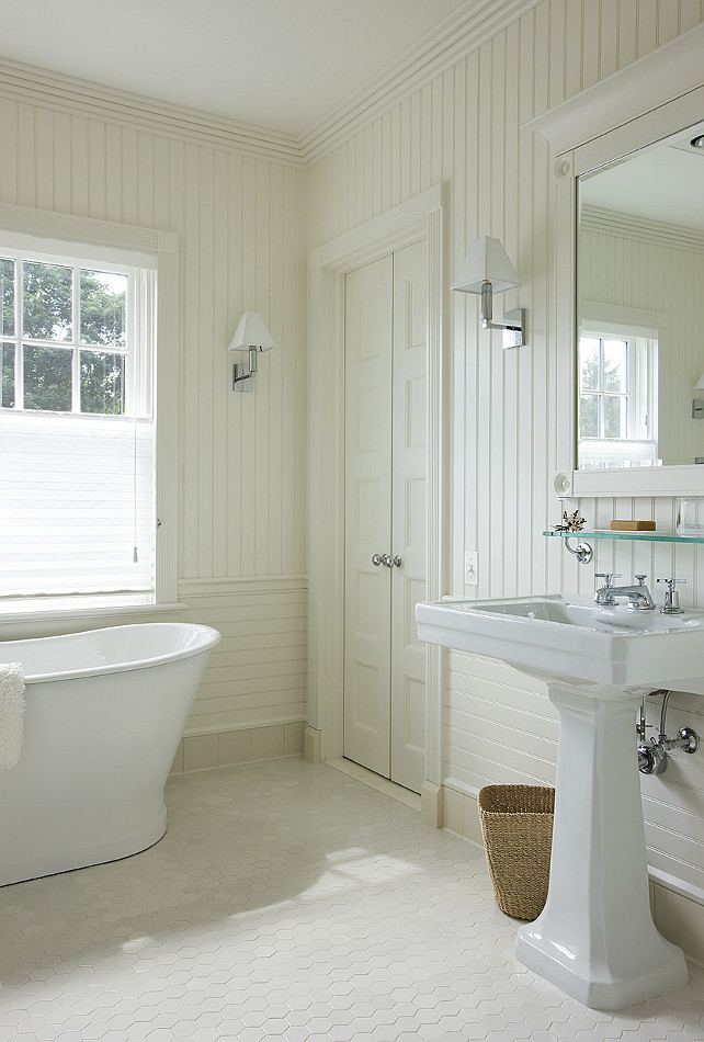 Beadboard Bathroom. Beadboard Bathroom Ideas. Beadboard Bathroom Design. Bathroom with Beadboard walls. #Beadboard #Bathroom #BeadboardBathroom John Hummel & Associates.
