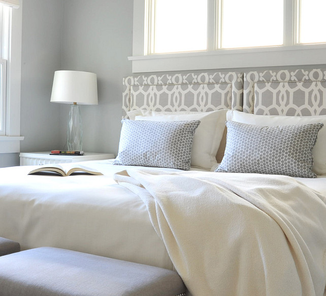 Bedroom Color Palette. Gray Bedroom Color Palette. Gray Bedroom Paint Color: Benjamin Moore Wickham Gray HC-171. #BedroomColorPalette #GrayBedroomPaintColor #BenjaminMooreWickhamGray