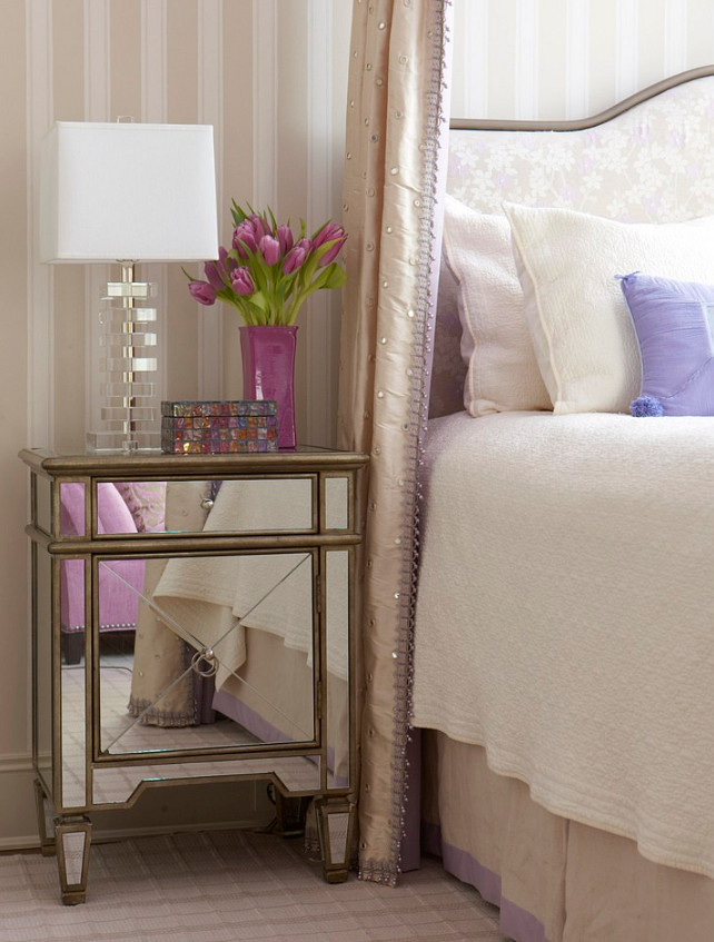 Bedroom Decorating Ideas. Bedroom Nightstand. Bedroom Decor. Bedroom Nightstand is from Worlds Away. #Bedroom #BedroomDecor #BedroomFurniture Cindy Rinfret.