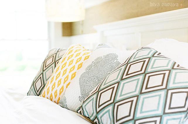 Bedroom Fabric Ideas.  Master bedroom decor details. #Bedroom #Fabric #Decor