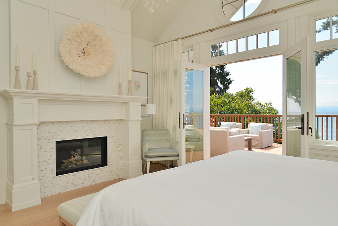 Bedroom Fireplace. Sunshine Coast Home Design.
