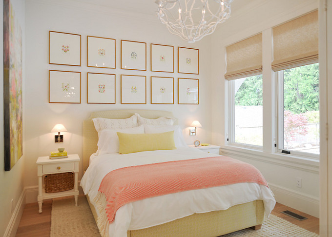 Bedroom Frames Ideas. Bedroom with framed prints above bed. Sunshine Coast Home Design.