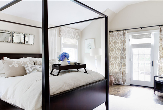 Bedroom Ideas. Elegnat bedroom ideas. I love the decor in this bedroom, including the bed and bedding. #Bedroom #ElegantBedroom #BedroomIdeas