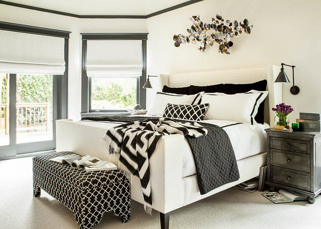 Bedroom Paint Color Palette. Black White & Gray Bedroom. Bedroom Black White Gray Bedroom  Studio Munroe