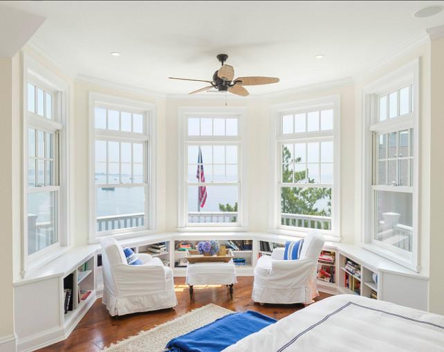 Bedroom Sitting Area. Bedroom sitting area overlooking the ocean. #BedroomSittingArea #SittingArea #CoastalInteriors