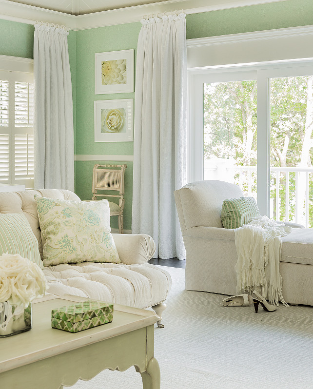 So Elegant Love A Sitting Area In A Master Bedroom By: Classic Family Home With Coastal Interiors
