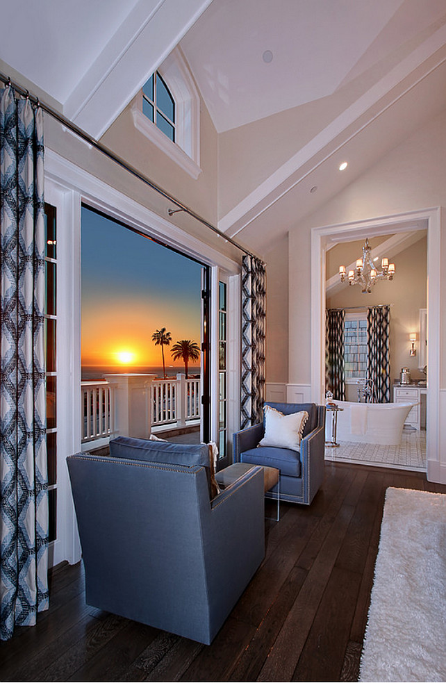 Bedroom sitting area with ocean view. #bedroom #sittingarea #oceanview Spinnaker Development.