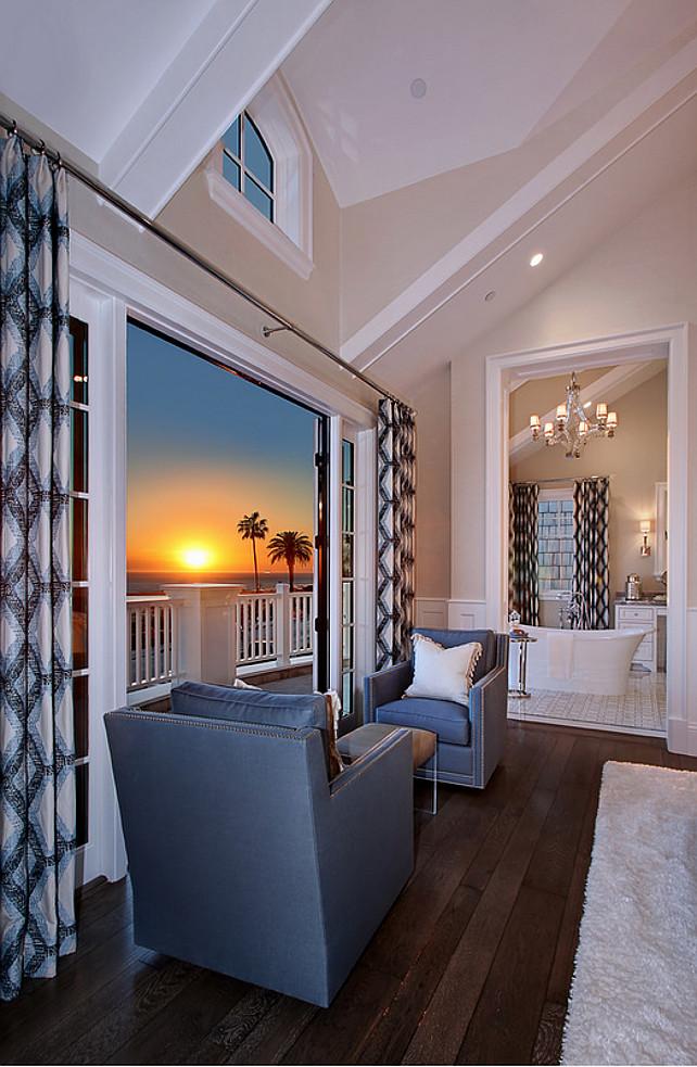Bedroom sitting area with ocean view. #bedroom #sittingarea #oceanview Spinnaker Development.
