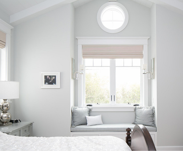 Bedroom with window seat . Master Bedroom with window seat. Bedroom with window seat with circular window. #Bedroom #windowseat #Bedroomwindowseat #windowseatBedroom #CircularWindow Brandon Architects, Inc.