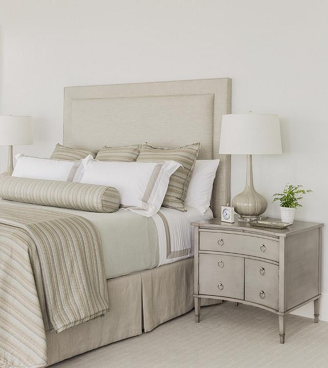 Bedroom. Bedroom Color Scheme. Bedroom Color Palette. Gray and Ivory Bedroom Color Scheme. #Bedroom #GrayBedroom #IvoryBedroom #BedroomColorScheme Anita Clark Design.