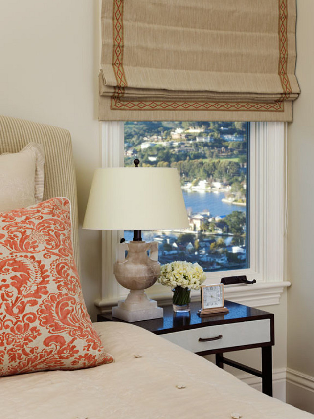 Bedroom. Bedroom Decor. Bedroom Window Treatment. Bedroom Bed Ideas. Bedroom Pillow Ideas. #Bedroom EJ Interior Design, Eugenia Jesberg.