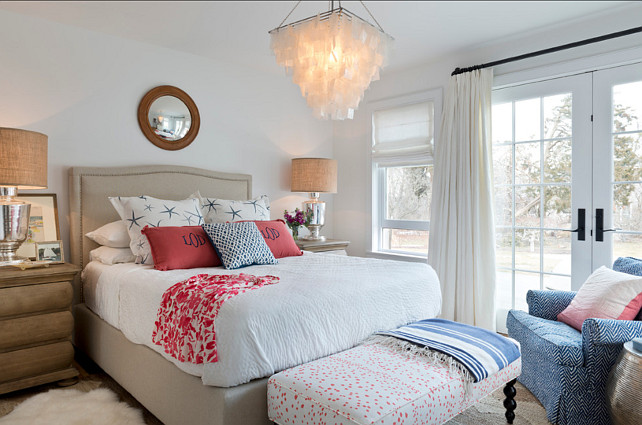 Bedroom. Bedroom Ideas. Bedroom Design. This bedroom was beutifully designed. It's serene and full of personality. The wall paint color is Benjamin Moore Chantilly Lace. #Bedroom #BedroomDesign #BedroomDecor #BedroomFurniture #FurnitureLayout