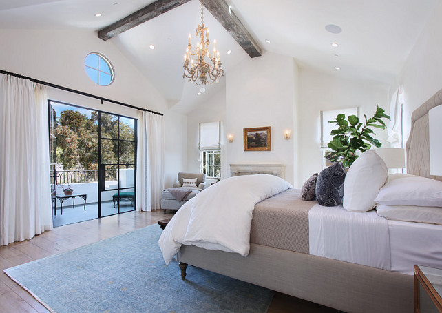 Bedroom. Bedroom Ideas. White Bedroom #Bedroom #WhiteBedroom Brandon Architects, Inc.