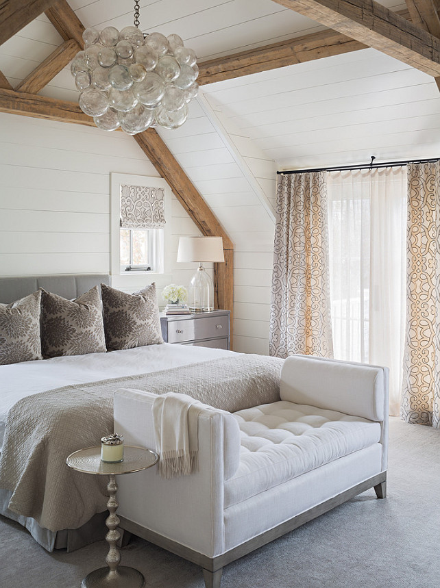 "Top Shiplap Bedroom Pin ""Bedroom with shiplap walls"". Bedroom. Bedroom Lighting is a Muriel Chandelier. Bedroom Lighting. #Bedroom #Lighting #BedroomLighting #MurielChandelier"