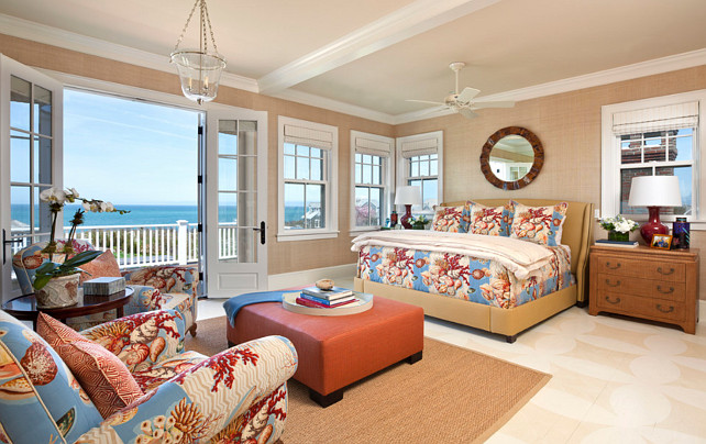 Traditional nantucket cottage with coastal interiors for Coastal bedroom design