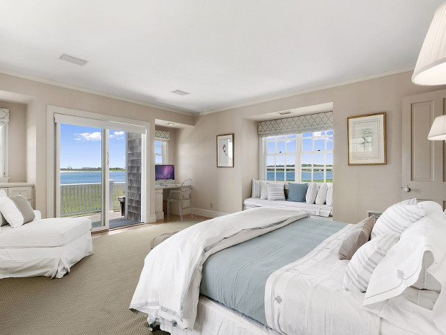 Classic hamptons beach house for sale home bunch for White and neutral bedrooms