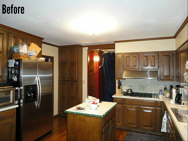 Before and After Kitchen Reno #BeforeandAfterKitchenReno