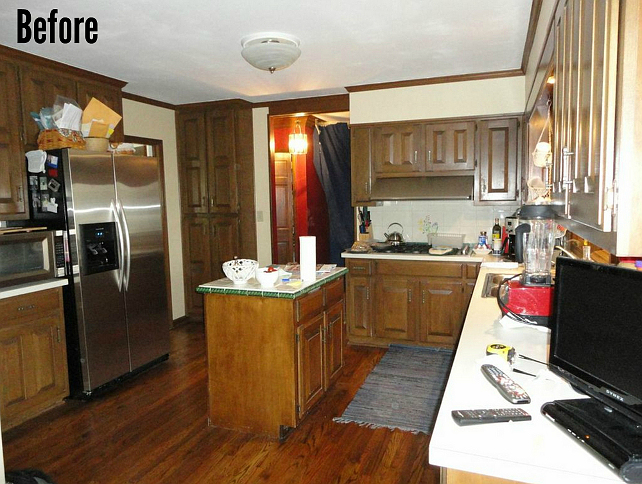 Before and After Kitchen Reno. #BeforeandAfterKitchenReno