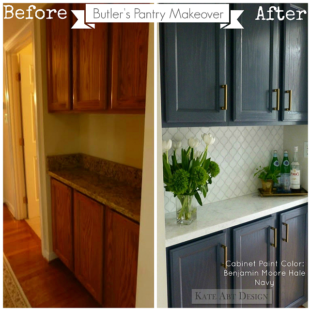 Before and After Painted Cabinet Ideas. #BeforeAfter #BeforeAfterReno #BeforeAfterCabinet #BeforeAfterPaintedCabinet #BeforeAfterCabinets #BeforeAfterIdeas Kate Abt Design.