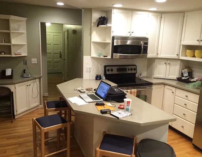 Before kitchen reno. You need to see the after of this kitchen reno. It's completely different!