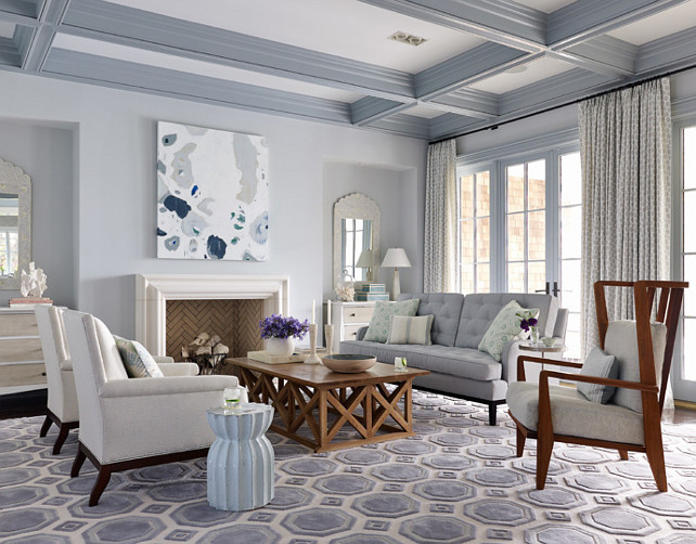 Benjamin Moore 1591 Sterling Blue Gray Paint Color