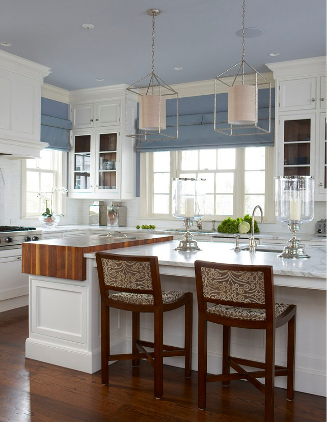 Interior design ideas relating to french decor home bunch for Blue grey kitchen paint