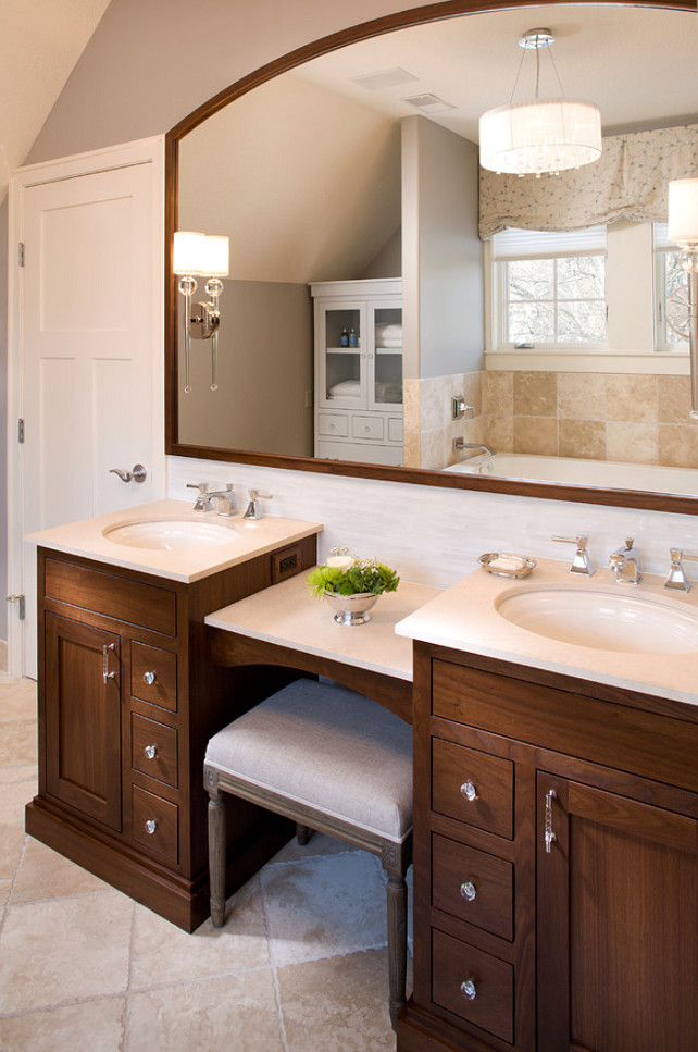 double bathroom vanity with makeup area. Baltimore Bathroom  1000 Ideas About Illuminated Mirrors On Pinterest Vanity