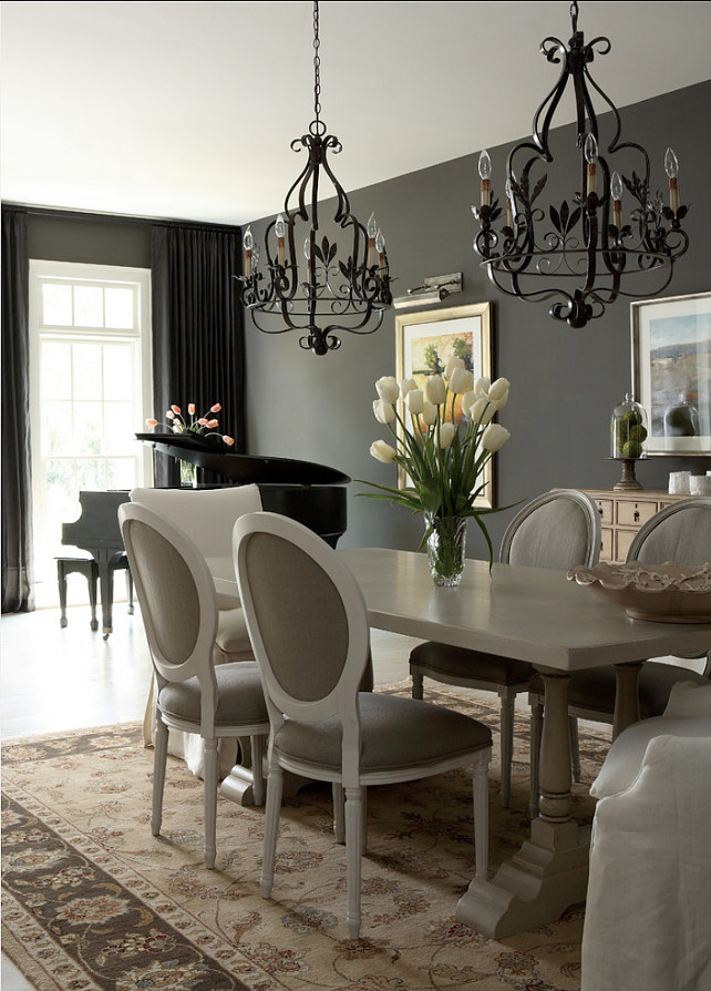 "Benjamin Moore Paint Color. ""Benjamin Moore Iron Mountain"". #BenjaminMoore #IronMountain J. Hirsch Interior Design, LLC."