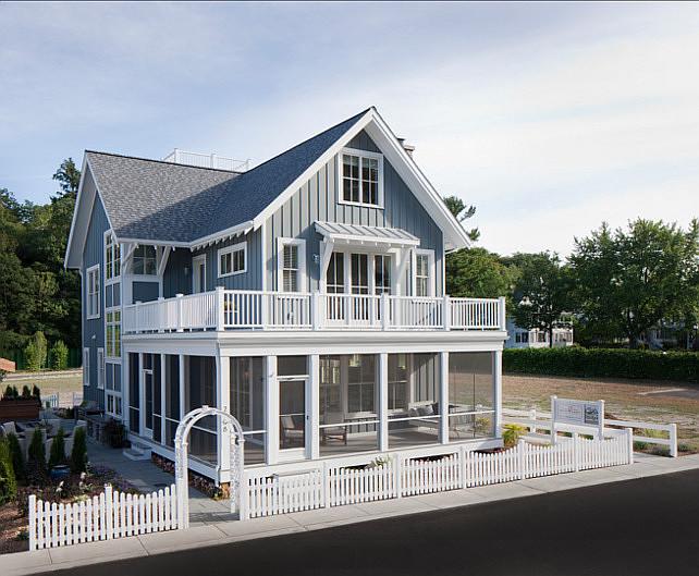 "Benjamin Moore Paint Color. Home Exterior Paint Color Ideas. ""Benjamin Moore Gray Pinstripe 1588"". #BenjaminMoore #GrayPinstripe 1588"
