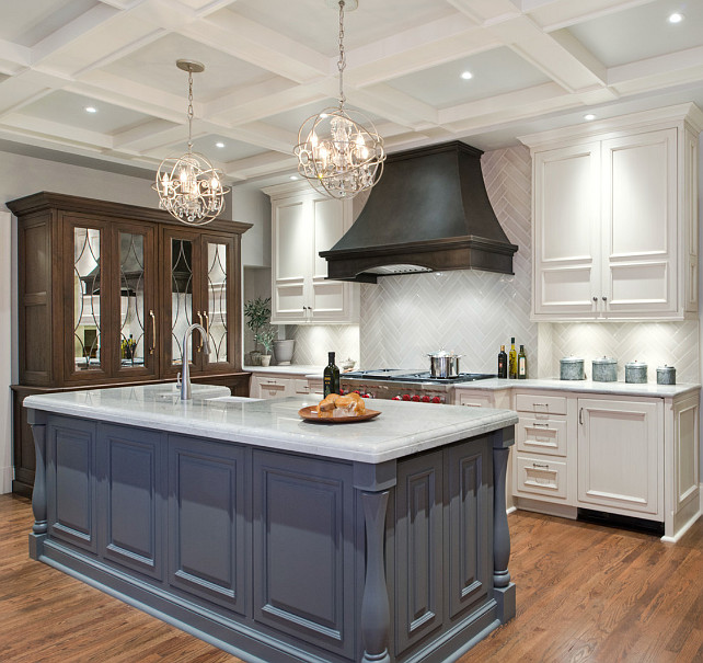 Benjamin Moore Paint Colors. Benjamin Moore Kendall Charcoal HC-166 Kitchen island is painted in Benjamin Moore Kendall Charcoal HC-166. #BenjaminMooreKendallCharcoal #BenjaminMooreHC166 #BenjaminMoorePaintColors