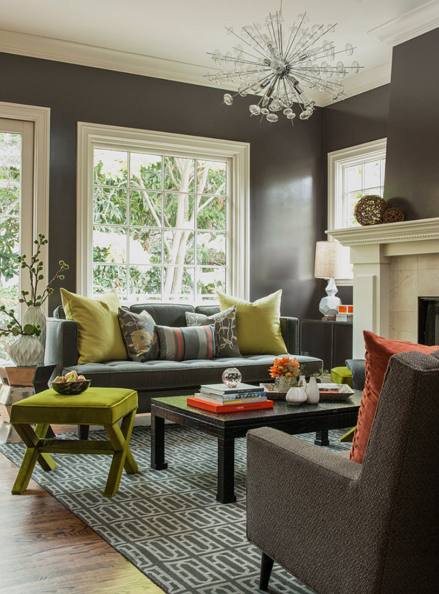 Benjamin Moore Paint Colors. Charcoal Paint Color. Benjamin Moore OC 125  Silhouette.