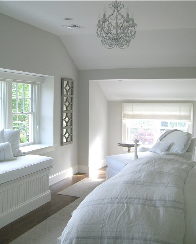 Benjamin Moore Paint Colors. Wall and Trim Paint Color. Wall Paint Color is Benjamin Moore Light Pewter 1464 Trim Paint Color is Benjamin Moore White Dove OC-17