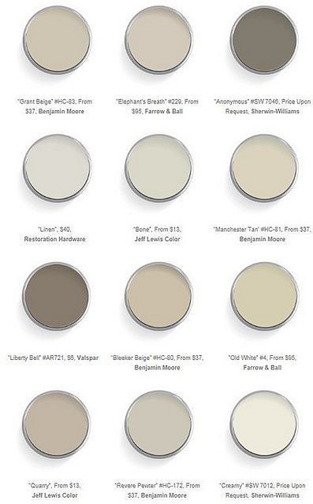Interior paint color and color palette ideas with pictures for Neutral tone paint colors