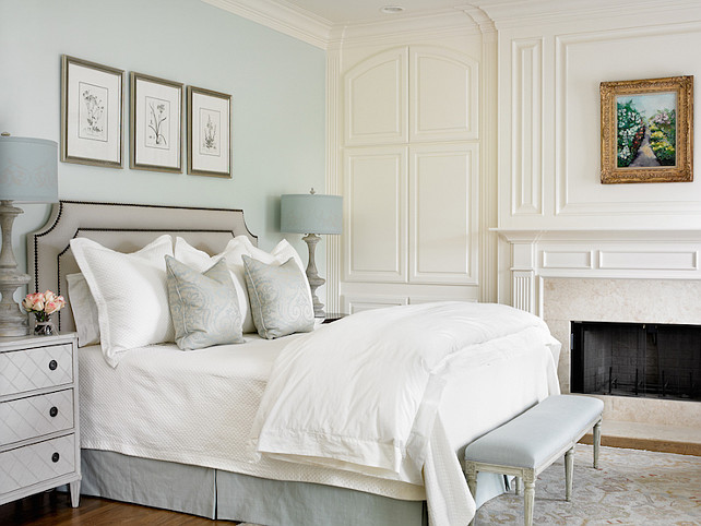 Blue Bedroom Farrow and Ball Pale Powder. Farrow and Ball Pale Powder. #FarrowandBallPalePowder
