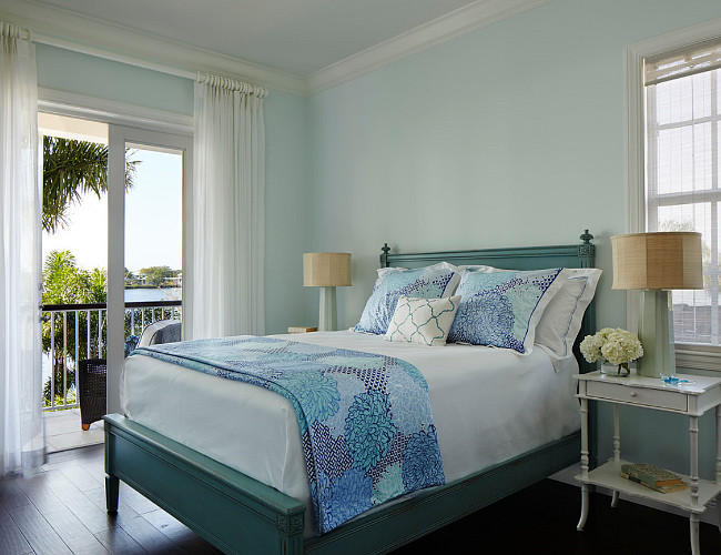 Blue Bedroom. Sweet Dreams Benjamin Moore. Blue master bedroom paint color Sweet Dreams Benjamin Moore. #SweetDreams #BenjaminMoore