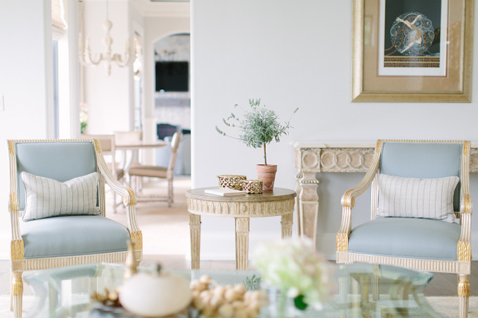 Blue Chairs. Kate Marker Interiors.