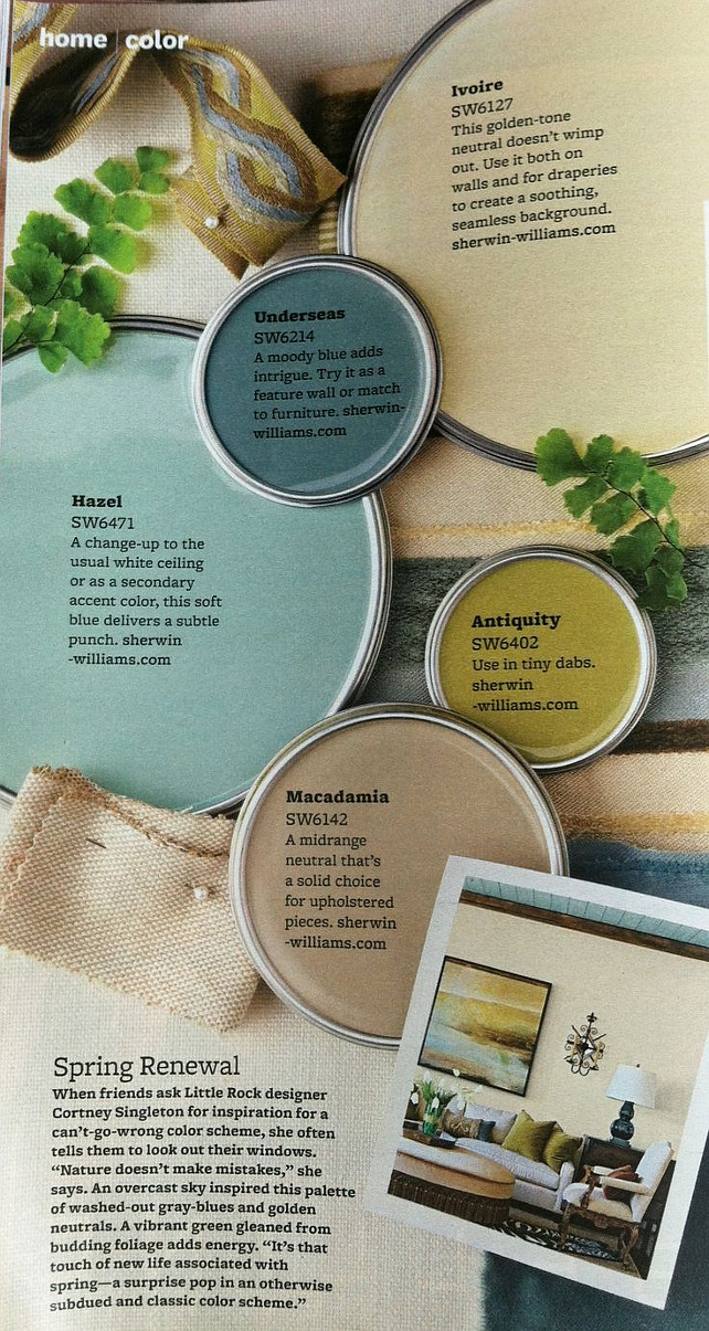 Blue, Green, Turquoise, Teal and Taupe Paint Colors. Coastal Paint Color. Hanzel SW 6471 Sherwin Williams. Underseas SW6214 Sherwin Williams. Ivoire SW6127 Sherwin Williams. Antiquity SW6402 Sherwin Williams. Macadamia SW6142 Sherwin Williams. #CoastalPaintColors #SherwinWilliamsPaintColors #GreePaintColor #BluepaintColors #TaupePaintColors #TurquoisePaintColors #TealPaintColors