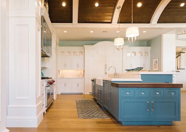 Blue Kitchen Island Paint Color Benjamin Moore Philipsburg Blue HC-159
