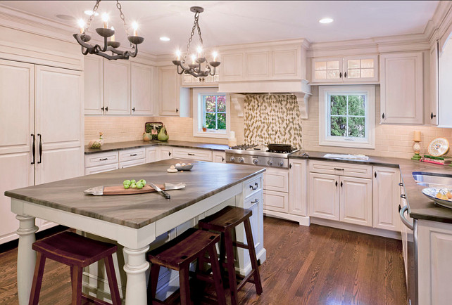 Transitional White Kitchen. Great design in this transitional white kitchen. #Kitchen #Transitional