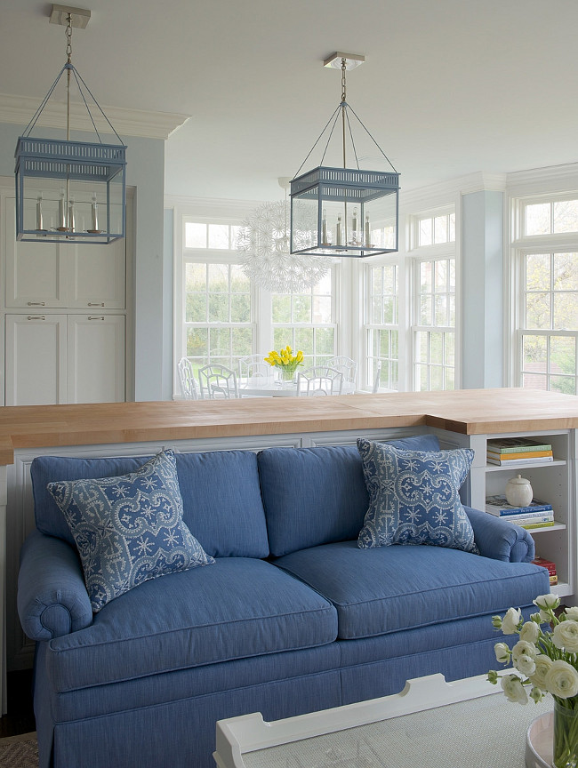 Blue Urban Electric Co. Chisholm Hall Lanterns. White kitchen with Blue Urban Electric Co. Chisholm Hall Lanterns. #UrbanElectricCo. #ChisholmHallLanterns Kerry Hanson Design.