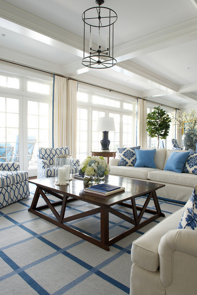 Blue and White Interiors. Inspiring Blue and White Interiors. Coastal Blue and White Interiors. #BlueandWhiteInteriors James Schettino Architects.