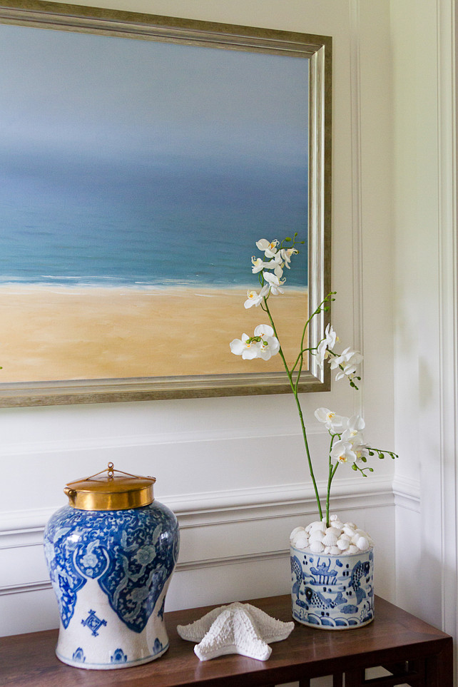 Blue and white coastal decorating ideas. #Blueandwhite #Coastal #decor SLC Interiors.
