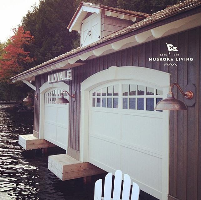 Boathouse. #muskokalivinginteriors #muskokalivingprojects #muskokalivingarchitecture #Lilyvale #lakemuskoka #muskoka #Boathouse & Coastal Muskoka Living Interior Design Ideas - Home Bunch Interior ...
