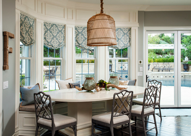Breakfast Nook Chair Ideas. The breakfast nook chairs are from Ballard Design. #BreakfastNook #Chairs Stiles and Fischer Interior Design