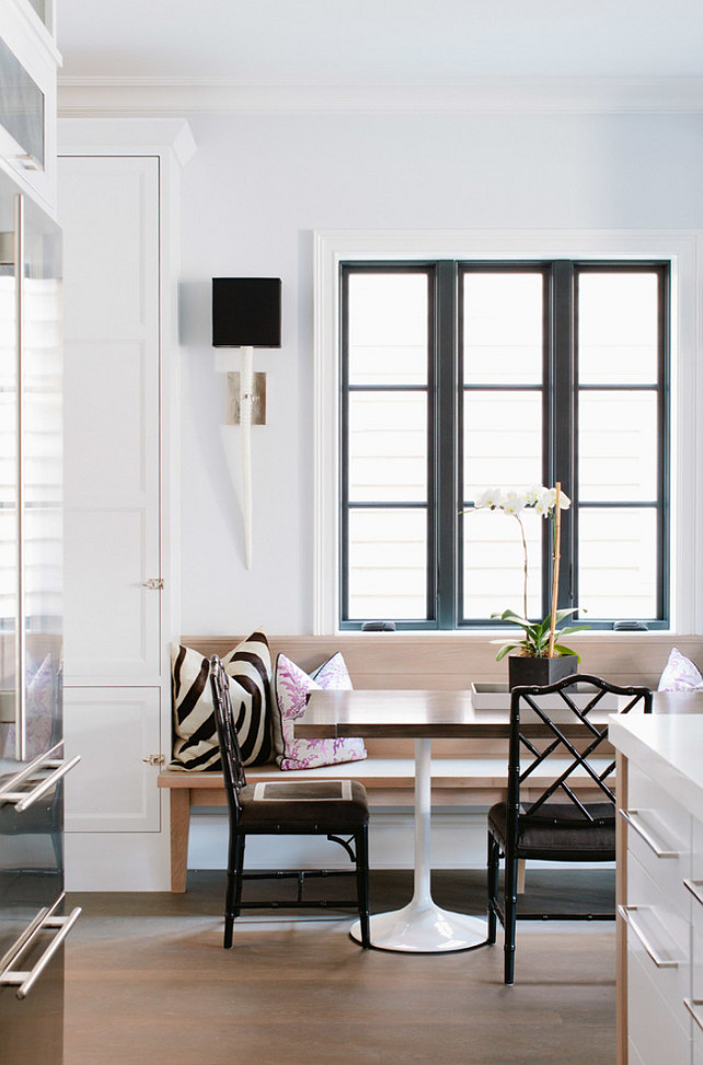 Breakfast Nook. Breakfast Nook Ideas. Breakfast Nook Bench. Breakfast Nook Sconces. Breakfast Nook Chairs. Breakfast Nook Bamboo Chairs. Breakfast Nook Window. #BreakfastNook Jean Stoffer Design.