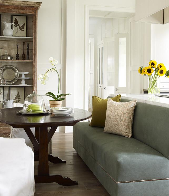 Breakfast Nook. Breakfast Nook by Kitchen Island. Breakfast Nook Ideas. Breakfast Nook with round Table. #BreakfastNook Kevin Spearman Design Group, Inc.