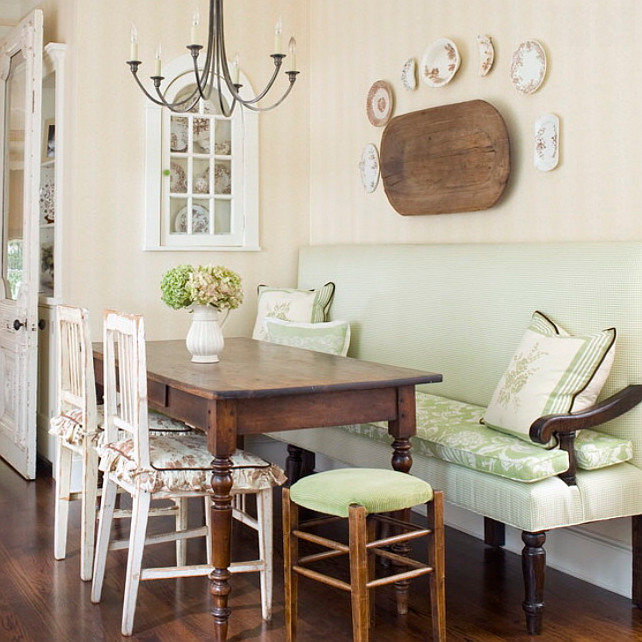 French Country China Cabinet Decor