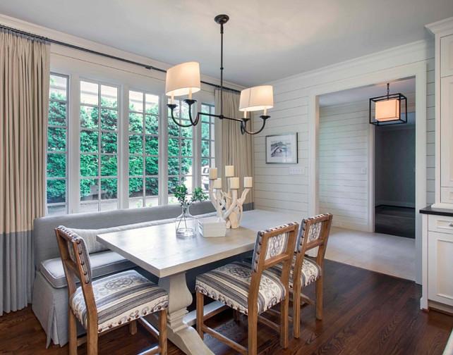 Kitchen Nook. Breakfast Room Ideas. Breakfast room with custom banquette. #BreakfastRoom #banquette  Advanced Renovations, Inc.